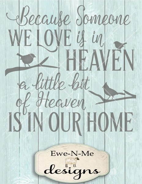 Download 17+ Because Someone We Love Is In Heaven Svg Free Gif Free ...