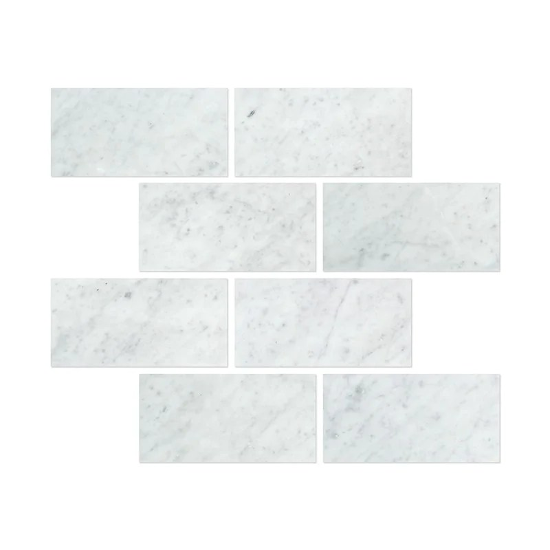 carrara white marble 6 x 12 inch subway brick tile marble from italy