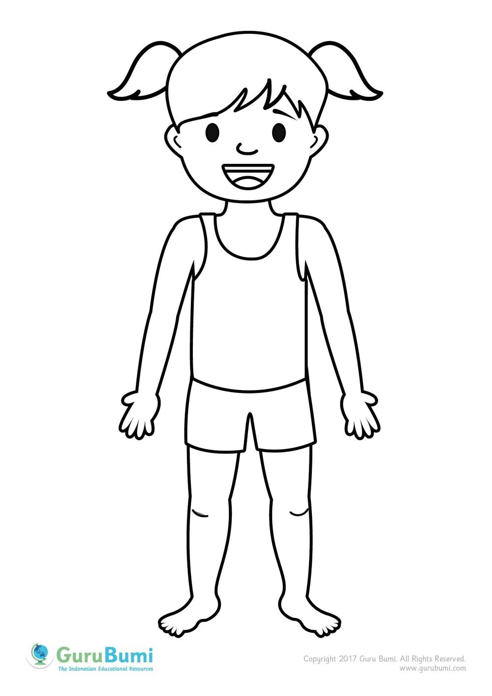 Contoh Gambar Mewarnai Gambar Anggota Keluarga KataUcap
