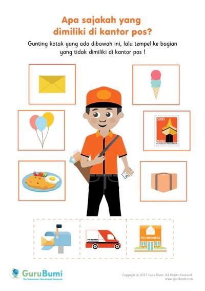 Gambar Kantor Pos Kartun : gambar, kantor, kartun, Contoh, Gambar, Mewarnai, Kotak, KataUcap