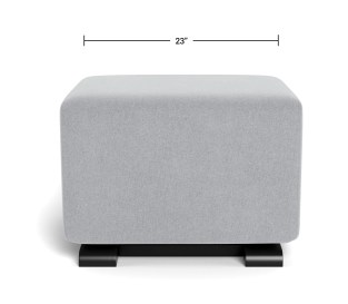 Modern Nursery Ottoman - Como Ottoman Dimensions Front View
