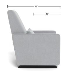 Modern Nursery Glider Chair - Grano Glider Recliner Dimensions Side View
