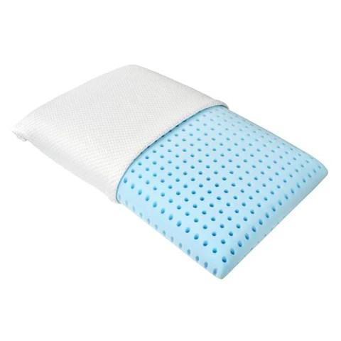 blu sleep ice gel memory foam pillow standard size