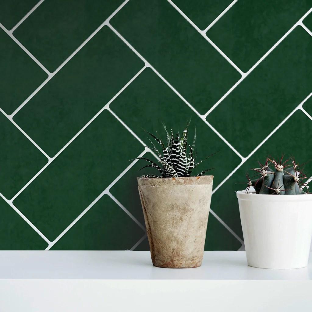 https dizzyduckdesigns com products herringbone subway tile stencil