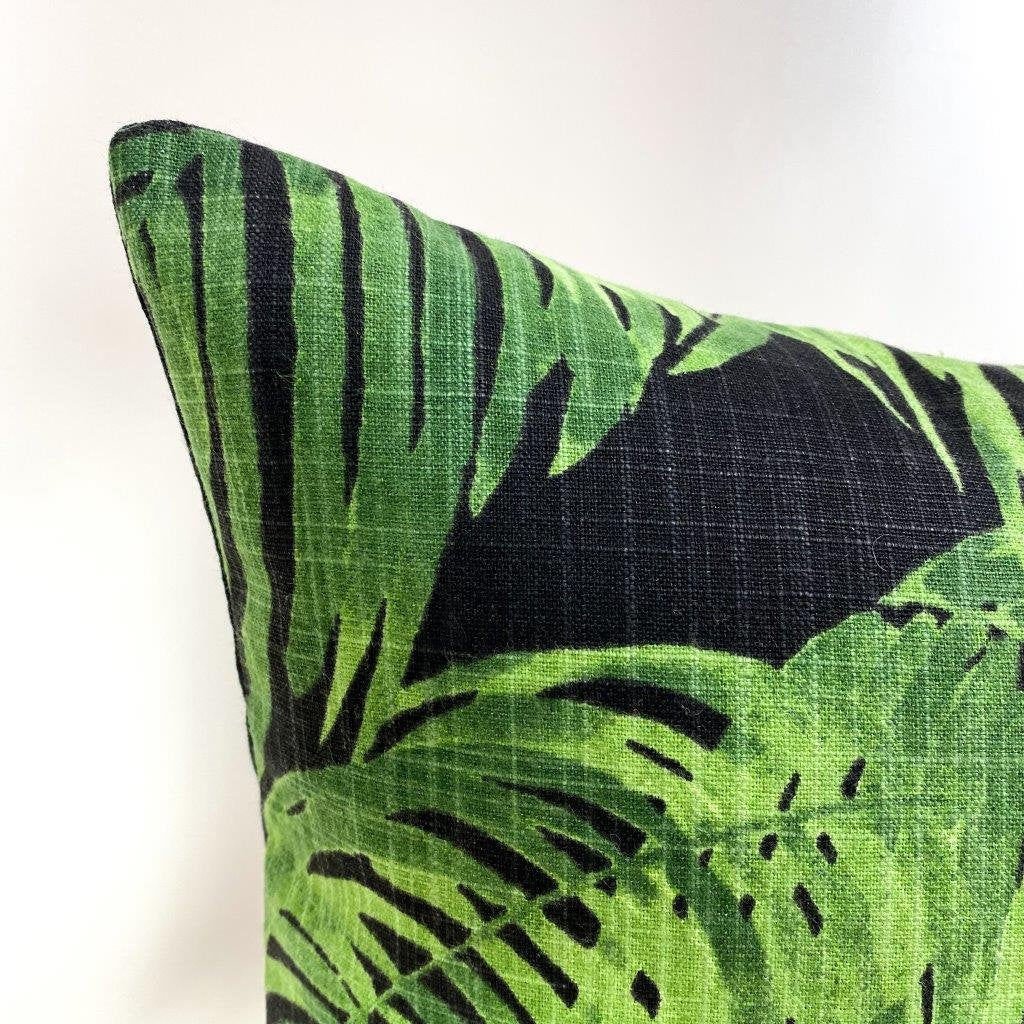 palm leaf throw pillow palm leaf decor throw pillow cover black pillow black pillow case black pillow covers gift for her