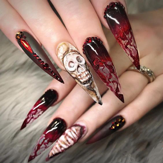 50 Stylish And Fun Halloween Nail Designs Ostty