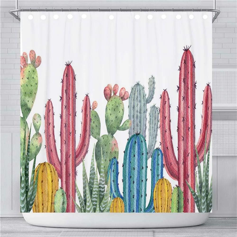 cactus shower curtain pyhq