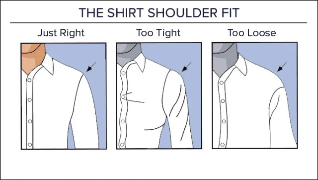 Image result for shirt shoulder fit