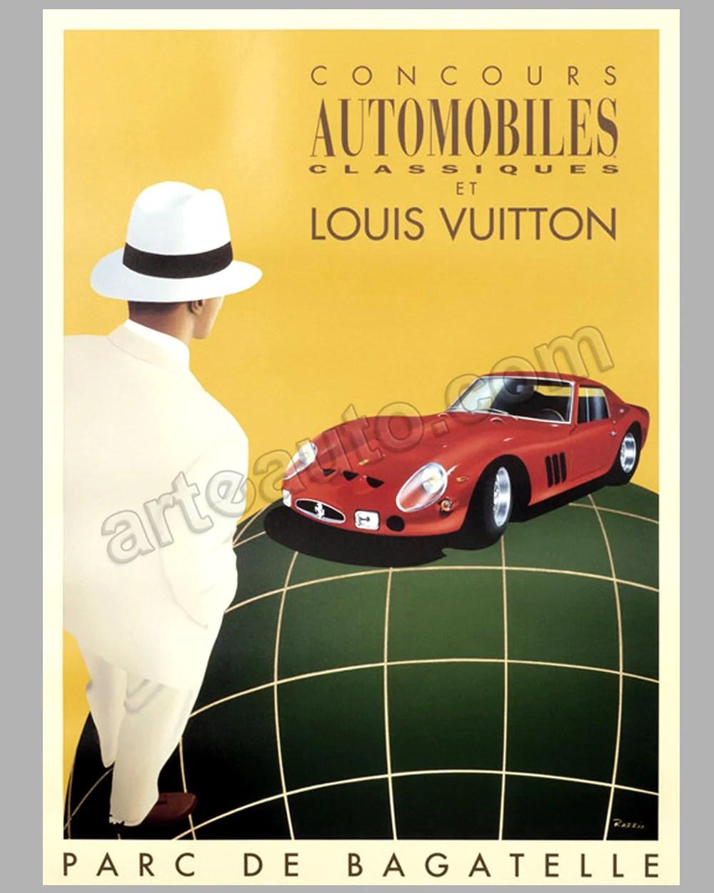 louis vuitton bagatelle concours d elegance 1995 large original event poster by razzia