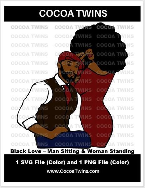 Download Digital Download - Black Love - Man Sitting & Woman ...