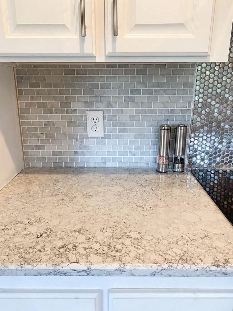 1x2 white carrara brick marble mosaic tile
