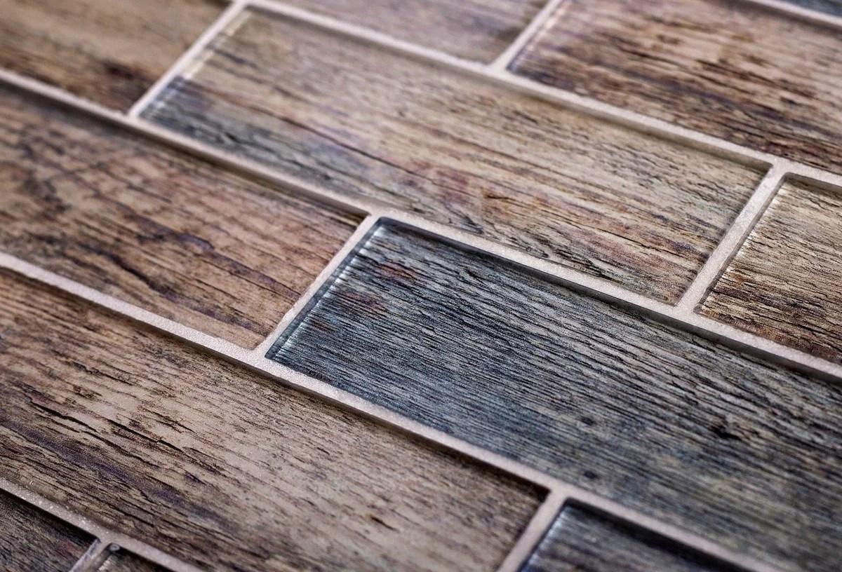 wood look tile mosaic proclain