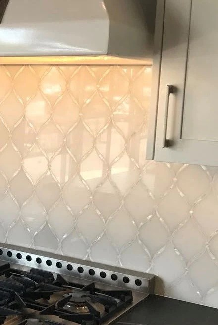 mother of pearl waterjet mosaic tile