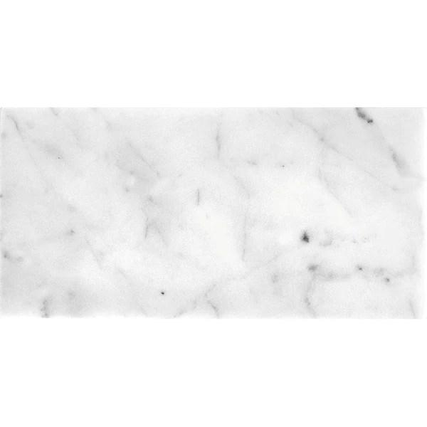 bianco carrara 12x24 polished marble tile