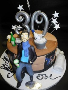 30th Birthday Fondant Cake With 3d Hand Made Man B0813 Circo S Pastry Shop