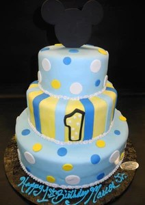 Baby Mickey Mouse 1st Birthday Cake B0791 Circo S Pastry Shop