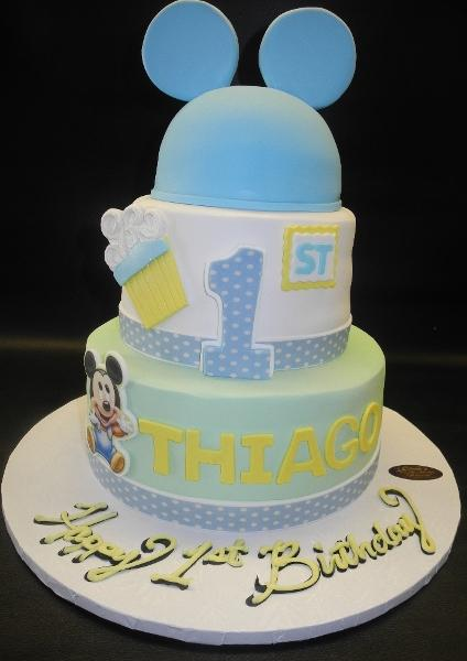 Mickey Mouse First Birthday Cake B0056 Circo S Pastry Shop