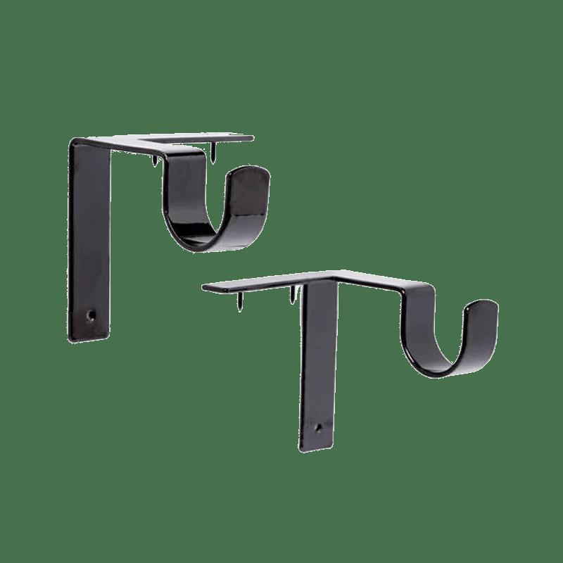 single curtain rod brackets