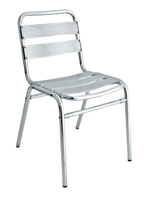 aluminum outdoor chairs stackable ladder back seat clearwater series