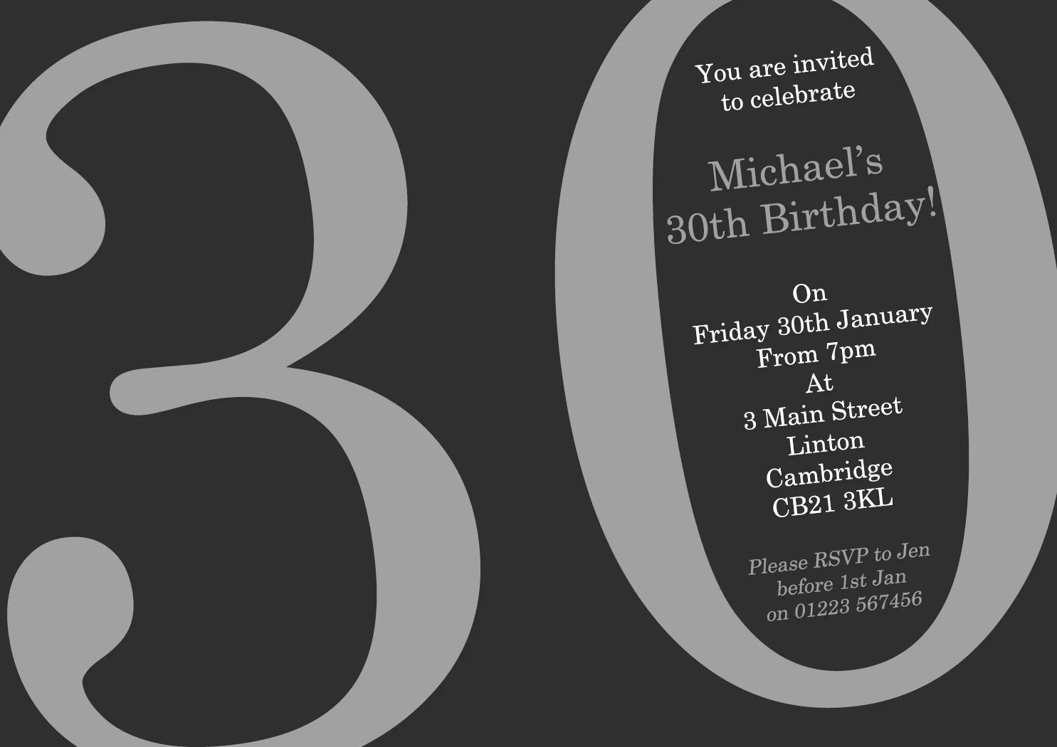 adult birthday invitations female male