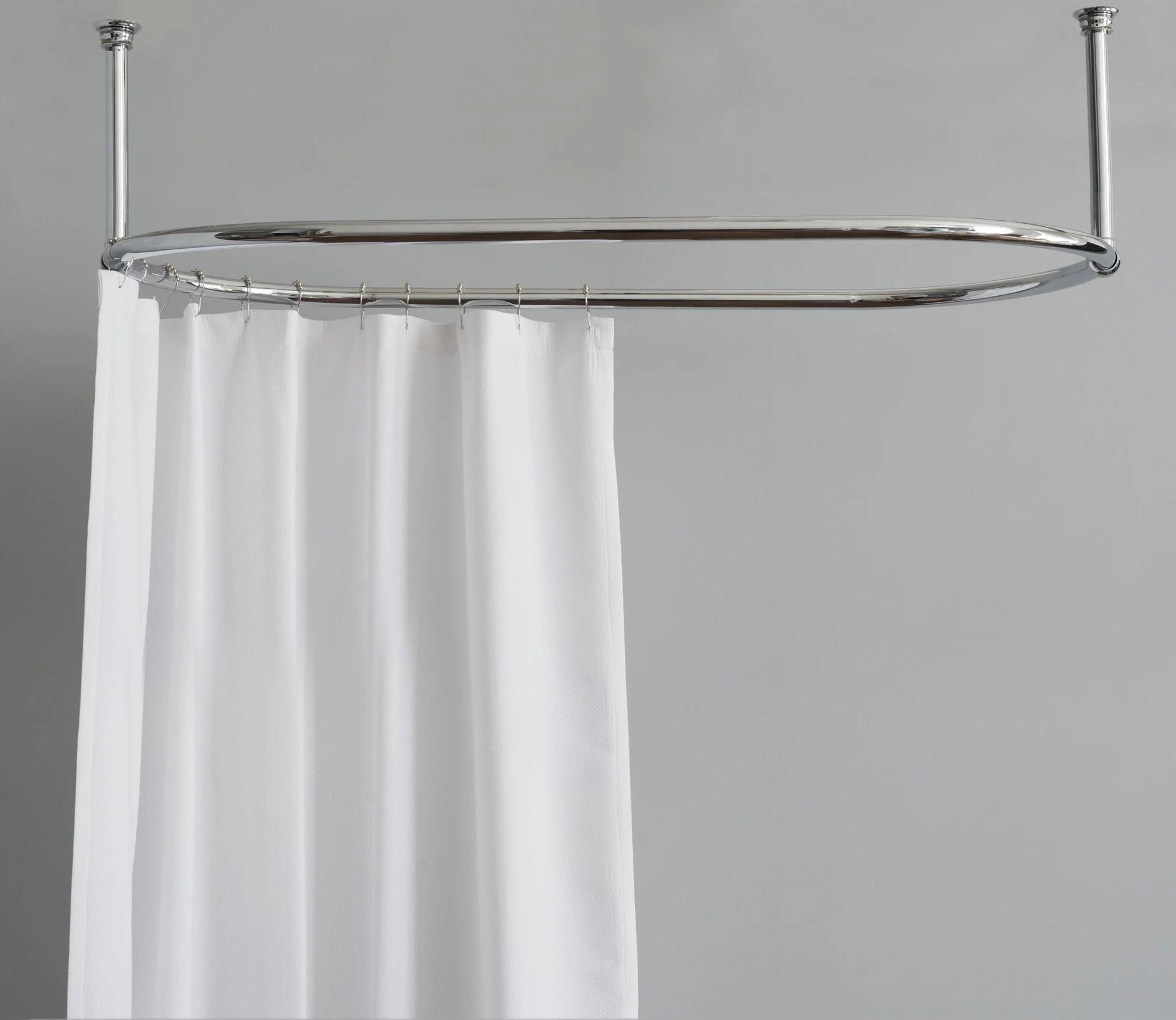 shower curtain rail oval