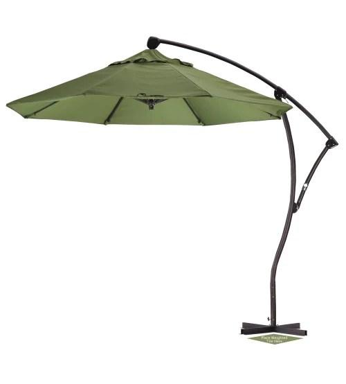 9 round offset patio umbrella sunbrella