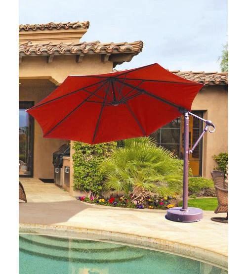 galtech 887 11 ft octagon cantilever patio umbrella w base