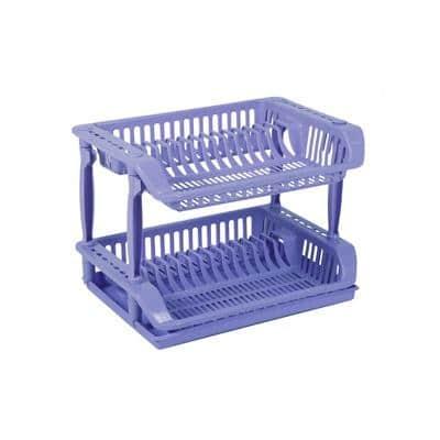 double layer dish drainer transparent fdd1711