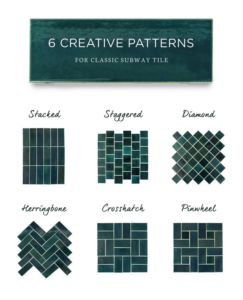 6 creative subway tile designs for your