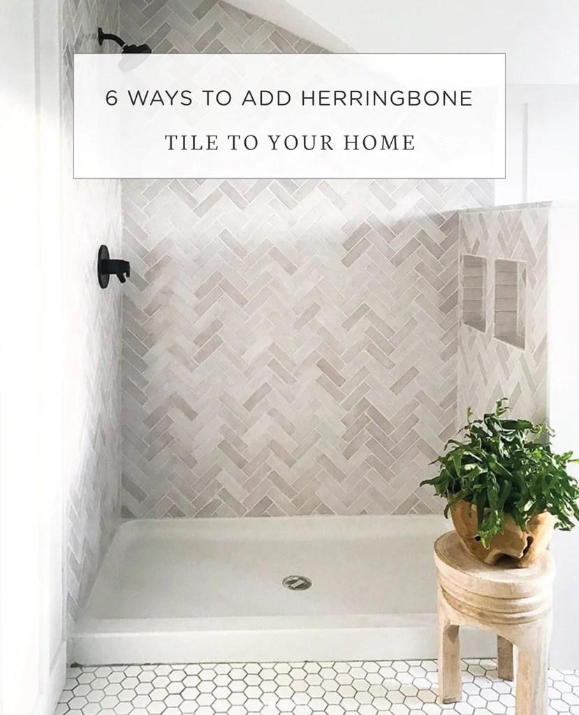 6 ways to add herringbone mosaic wall