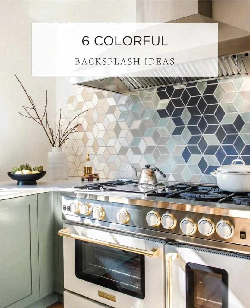 4 Unique Colorful Kitchen Backsplash Ideas Mercury Mosaics