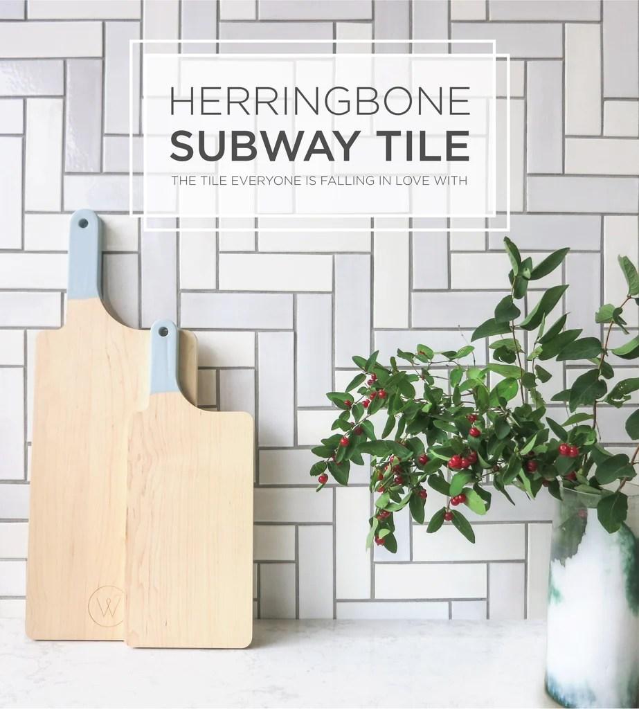 love with herringbone tile