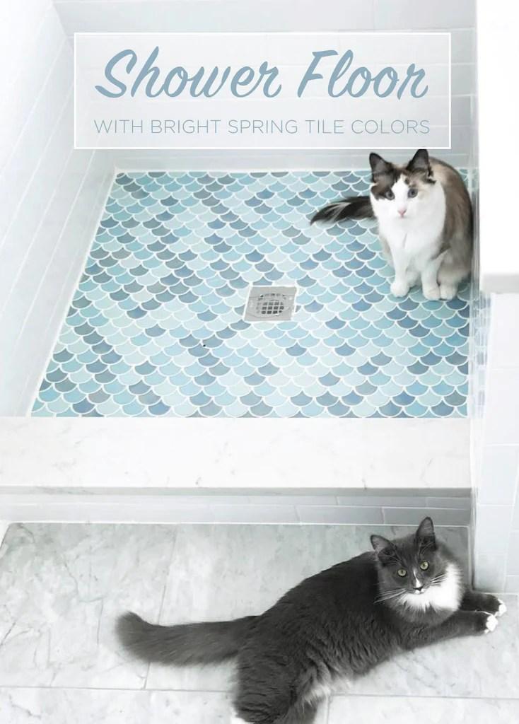 shower floor tile design bright