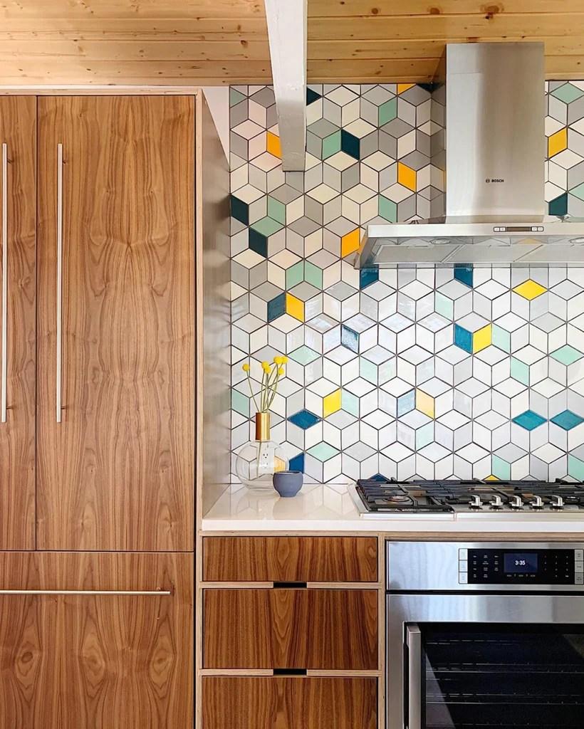 tile into mid century modern