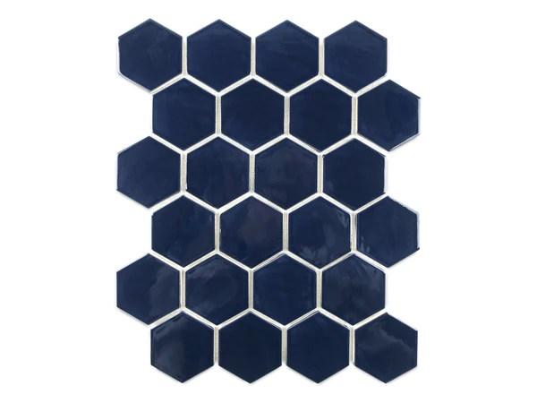 small hexagon 61 navy 61 navy