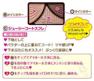 CANMAKE TOKYO Eyeshadow How to use