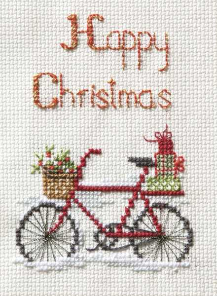 Christmas Delivery Cross Stitch Christmas Card Kit By