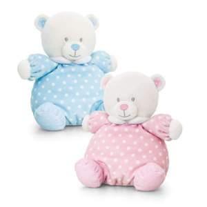 Ursulet de plus cu zornaitoare 20 cm adorabil și pufos, este compania potrivita pentru bebelus pe parcusul zilei si la culcare. Disponibil în două culori: bleu și roz. Mărime aproximativă: 20 cm. Respectați instrucțiunile de utlizare și siguranță de pe etichetă.