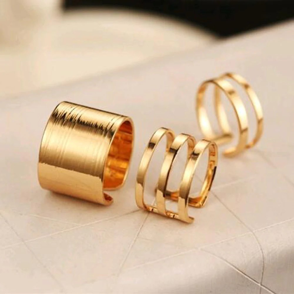 Champagne   Fashion Rings  3 Pcs       Treasures To Be Found     Champagne   Fashion Rings  3 Pcs