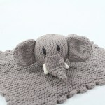 Elephant Hand Knitted Organic Cotton Comforter Tobs And Ror