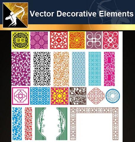 ★Free Vector Decoration Design Elements