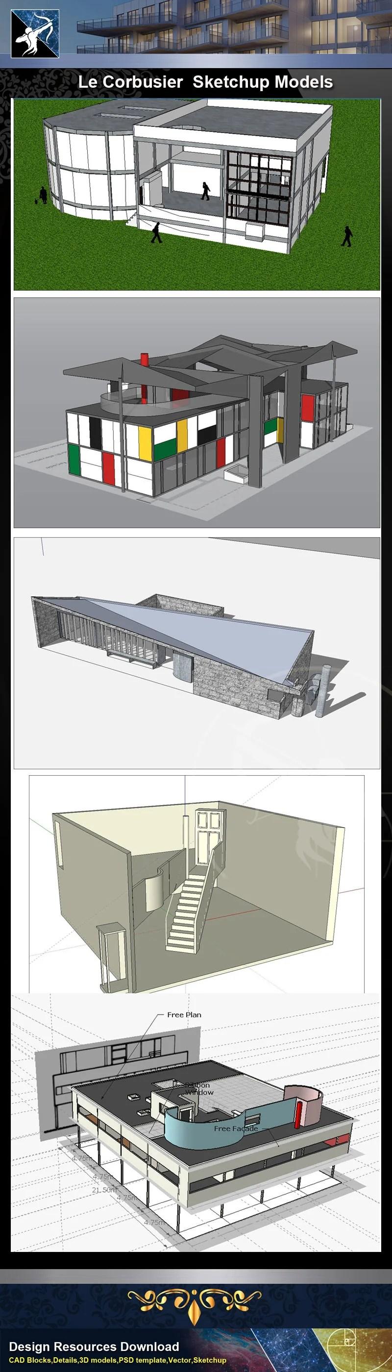 ☆Total 107 Pritzker Architecture Sketchup 3D Models☆ (Best
