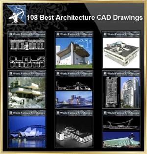 ★【108 World Famous Architecture CAD Drawings Bundle】