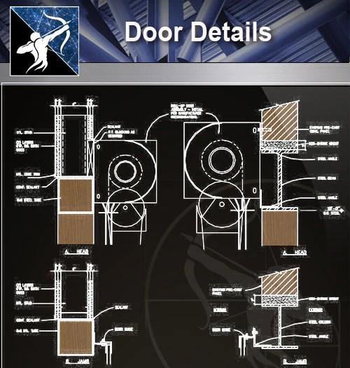 Wood Constructure Details】Free Wood Door Details - Free CAD
