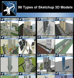 ★Total 98 Types of Commercial,Residential Building Sketchup 3D Models Collection
