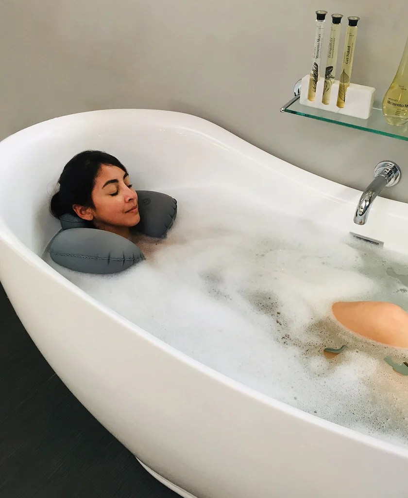full body bath pillow bathtub back head and neck rest support for luxury comfort bathroom accessories patterer other bathroom accessories