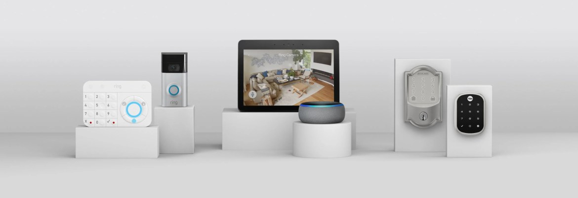 Ring Indoor Cam connects to other smart devices like Alexa, Echo, Echo Show, and smart locks