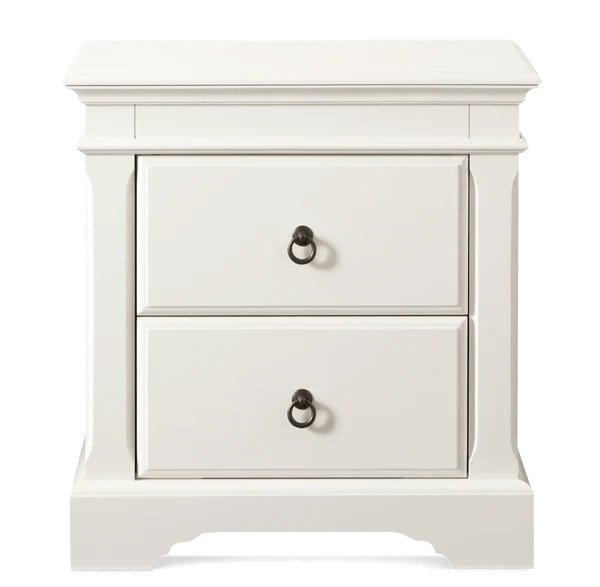 Corsica Bedside Table 2 Drawer Snooze