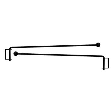wrought iron curtain rods iron wall
