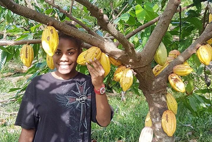Raw Cacao and Ni-Vanuatu lady - Tamanu Australia
